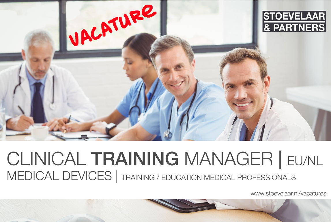 Clinical Training Manager Medical Devices EU/NL - vacatures / jobs