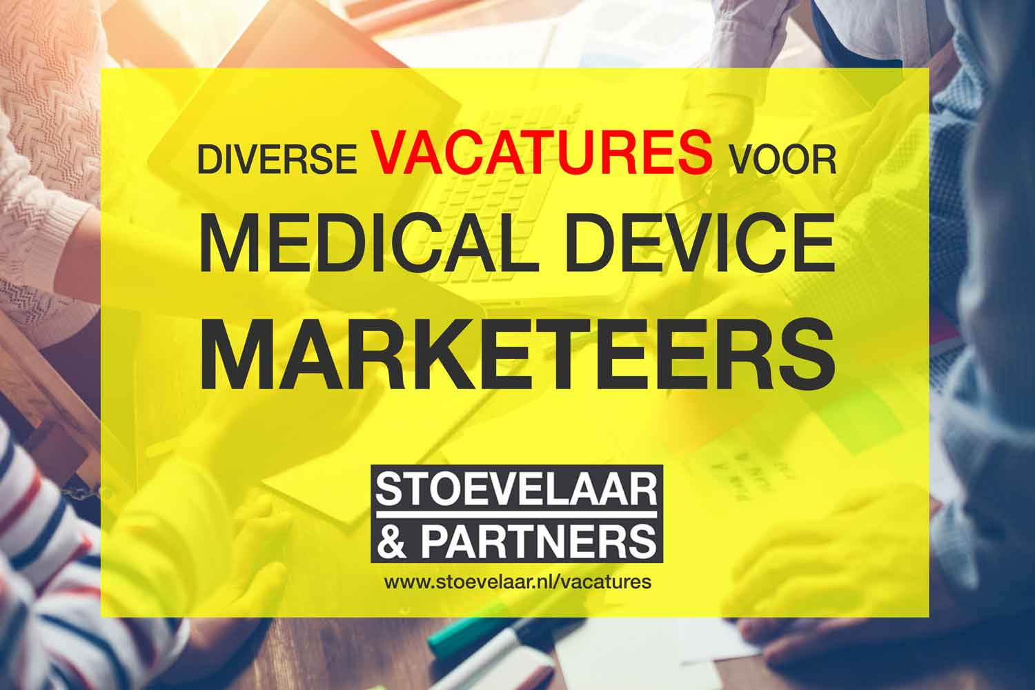 vacatures medical device marketeers